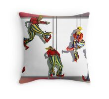 Puppets on a string Throw Pillow