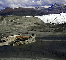 Wreckage at the Glacier by rhonda reed