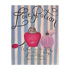 8x10 Love Potion paintingwith romantic quote print by Melissa Goza