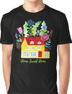 Home Sweet Home. Watercolor illustration Graphic T-Shirt
