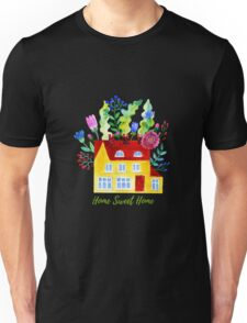 Home Sweet Home. Watercolor illustration Unisex T-Shirt