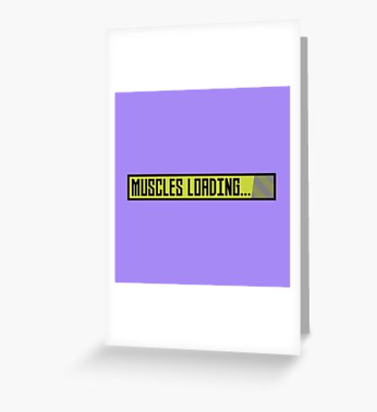 Muscles Loading Progressbar Rqy9t Greeting Card