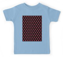 Polkadots Black and Red Kids Tee