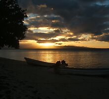 sunset, fiji by Hayley Walker
