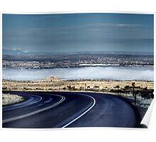 Winter Fog at Albuquerque from Sandia Poster