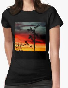 Fire in The Sky Womens Fitted T-Shirt