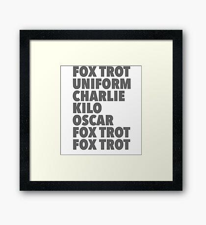 Fox off2! Framed Print