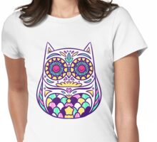 Pastel Owl Womens Fitted T-Shirt