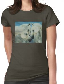 Three Horses Womens Fitted T-Shirt