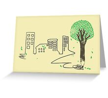 Raw Material Greeting Card