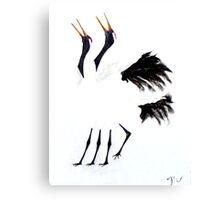 Duet of the Cranes Canvas Print