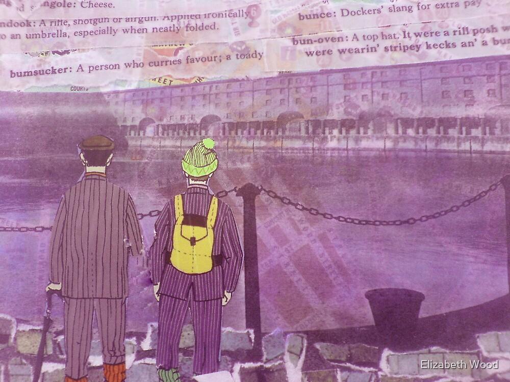 Standing By The Albert Dock, Liverpool by Elizabeth Wood