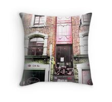The Beatles monument Throw Pillow