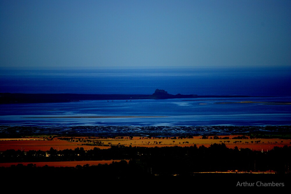 Holy Island from St Cuthberts Hill by Arthur Chambers