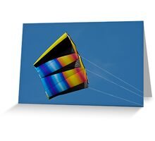 Large colourful kite Greeting Card