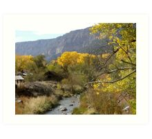 Jemez Springs, New Mexico in Fall Art Print