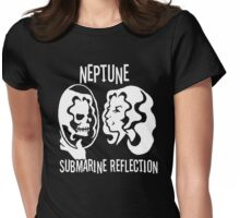 Neptune Submarine Reflection Womens Fitted T-Shirt