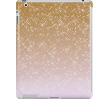 Peach Pink Sparkles Ombre iPad Case/Skin