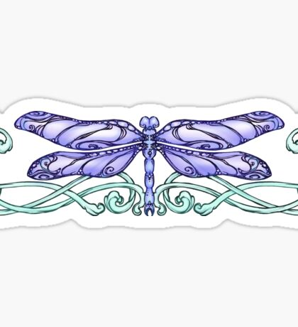 Jade and Purple Dragonfly Sticker