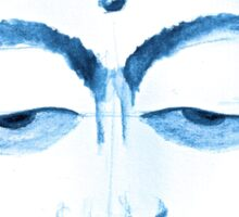 BUDDHA FACE BLUEPRINT  Sticker
