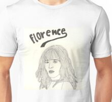 sketch of Florence from Florence + the machine Unisex T-Shirt