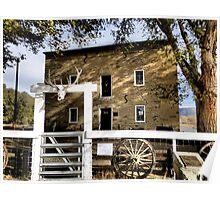 Aztec Mill in Cimarron, New Mexico Poster