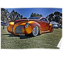 Lincoln Zephyr hot rod in gold Poster