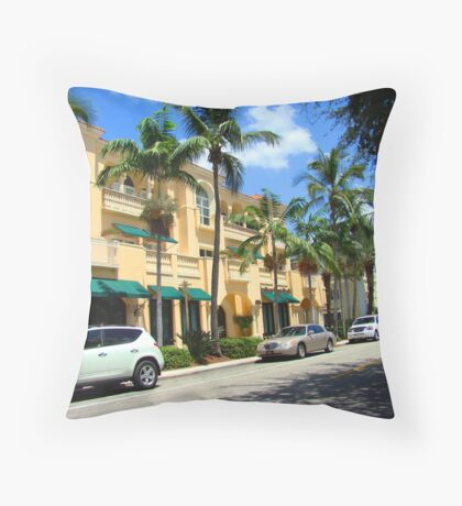 Pastel southern architecture Throw Pillow
