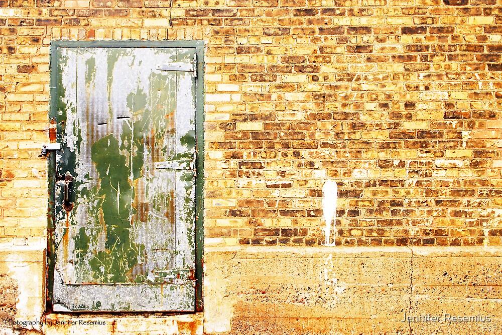 Behind the green door by Jennifer Resemius