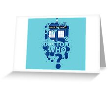 Doctor Who Tardis Greeting Card
