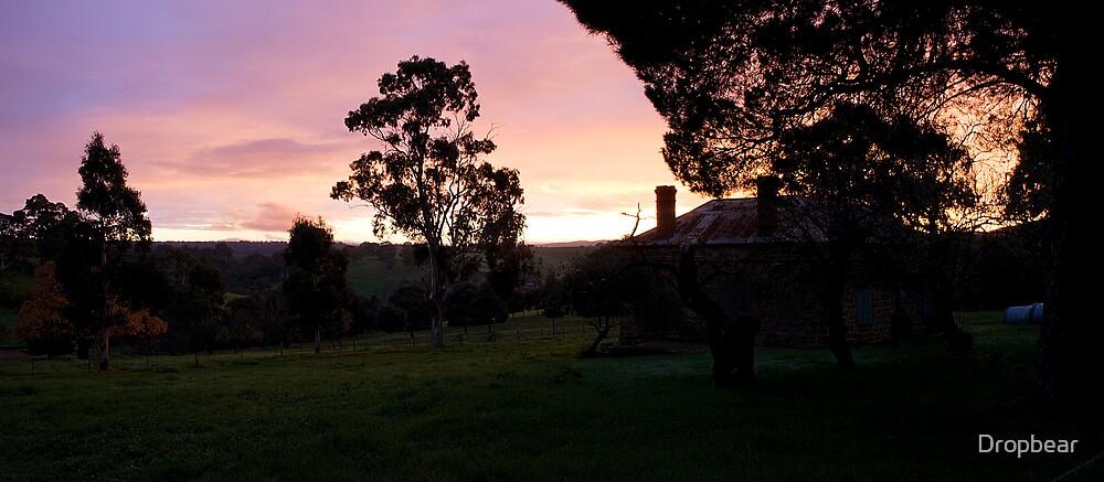 Farmhouse in morning light by Dropbear