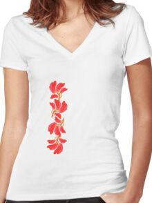 Tulips - Tee Women's Fitted V-Neck T-Shirt