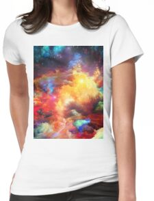 Multicolor  Womens Fitted T-Shirt