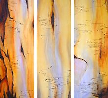 Scribbly Gum Tryptch by Marilyn Brown