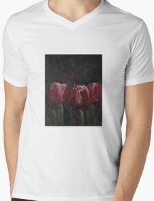 Saucy Tulips Mens V-Neck T-Shirt