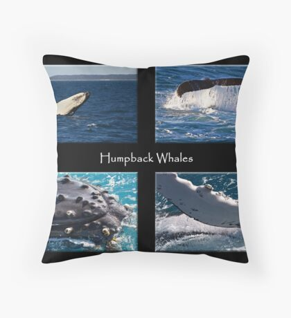 Humpback Whales Throw Pillow