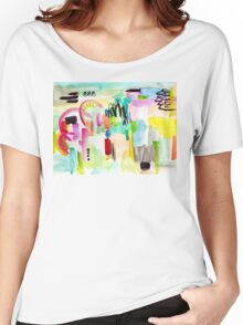 Colorful Abstract Painting in WaterColor Women's Relaxed Fit T-Shirt