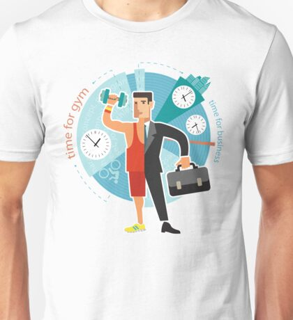 Time For Gym vs Business Unisex T-Shirt