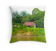 fishing hut Throw Pillow