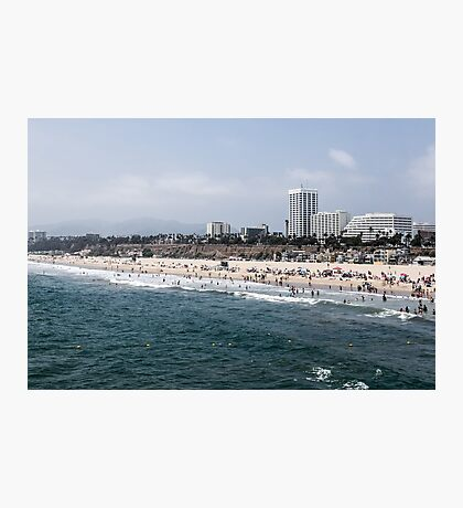On the Beaches of Santa Monica Photographic Print