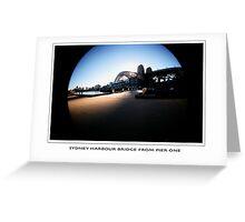 sydney harbour pier 1 Greeting Card