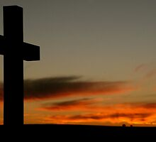 Sunset Cross by kimwild