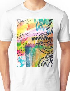 Colorful Abstract Painting in WaterColor Unisex T-Shirt