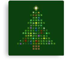 A Pixel Christmas Canvas Print