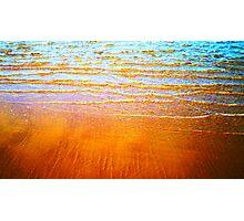 Blue and Orange Photographic Print