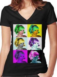 Ellis Dee Women's Fitted V-Neck T-Shirt