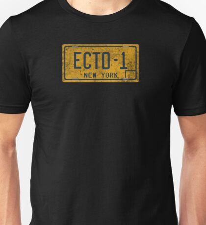 Ghostbusters - Ecto-1 License Plate -  Dirty Unisex T-Shirt