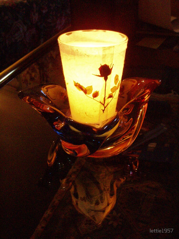 Candle and reflection  by lettie1957