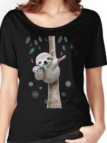 Baby Sloth Midnight Women's Relaxed Fit T-Shirt