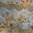 Ceiling in Library, Melk Abbey, Austria by Margaret  Hyde